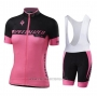 2020 Cycling Jersey Women Specialized Black Pink Short Sleeve and Bib Short