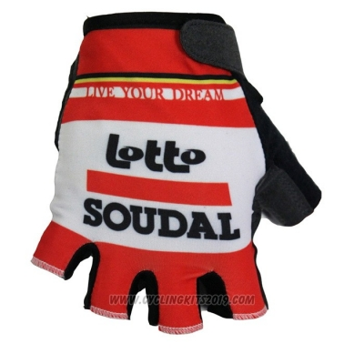 2020 Lotto Belisol Gloves Cycling Red