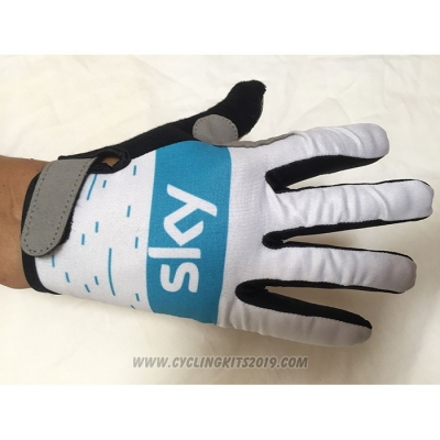 2020 Sky Full Finger Gloves White
