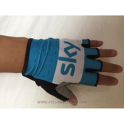 2020 Sky Gloves Cycling White Blue