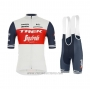 2021 Cycling Jersey Trek Segafredo White Deep Blue Short Sleeve and Bib Short