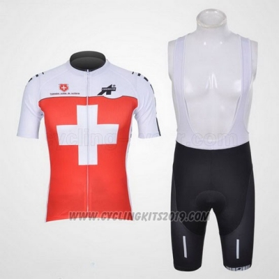2011 Cycling Jersey Assos White and Red Short Sleeve and Bib Short