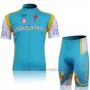 2011 Cycling Jersey Astana Sky Blue Short Sleeve and Bib Short