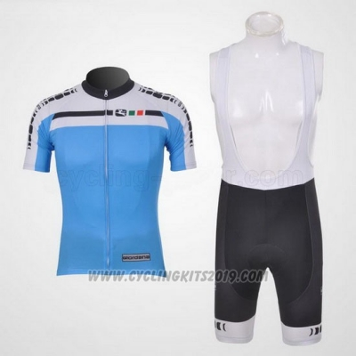 2011 Cycling Jersey Giordana White and Sky Blue Short Sleeve and Bib Short