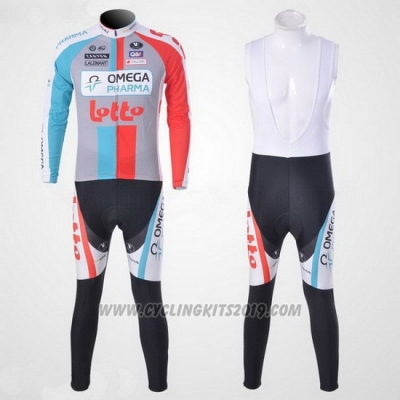 2011 Cycling Jersey Omega Pharma Lotto Long Sleeve and Bib Tight Beige Short Sleeve and Bib Short