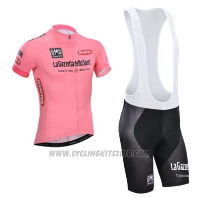 2014 Cycling Jersey Giro D'italy Pink Short Sleeve and Bib Short