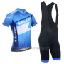 2014 Cycling Jersey Monton White and Blue Short Sleeve and Bib Short