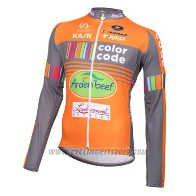 2015 Cycling Jersey Color Code Ml Orange Long Sleeve and Bib Tight