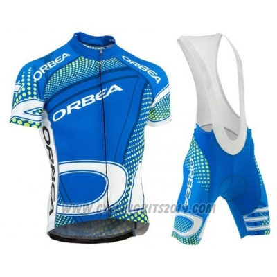 2015 Cycling Jersey Orbea Sky Blue and Black Short Sleeve and Bib Short