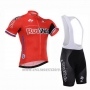 2015 Cycling Jersey Rusvelo Red Short Sleeve and Bib Short