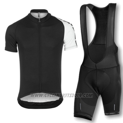 2016 Cycling Jersey Assos Black Short Sleeve and Bib Short