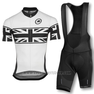 2016 Cycling Jersey Assos White Short Sleeve and Bib Short