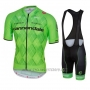 2016 Cycling Jersey Cannondale Black and Green Short Sleeve and Bib Short