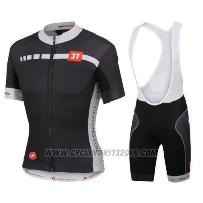 2016 Cycling Jersey Castelli White and Black Short Sleeve and Bib Short