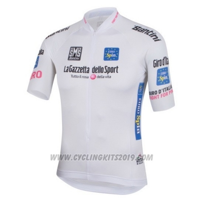 2016 Cycling Jersey Giro D'italy White Short Sleeve and Bib Short