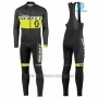2016 Cycling Jersey Scott Black and Yellow Long Sleeve and Salopette