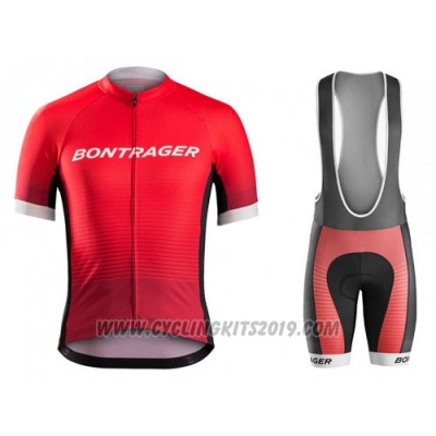 2016 Cycling Jersey Trek Bontrager Red and Black Short Sleeve and Bib Short