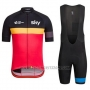 2016 Cycling Jersey UCI Mondo Campione Lider Sky Black and Red Short Sleeve and Bib Short