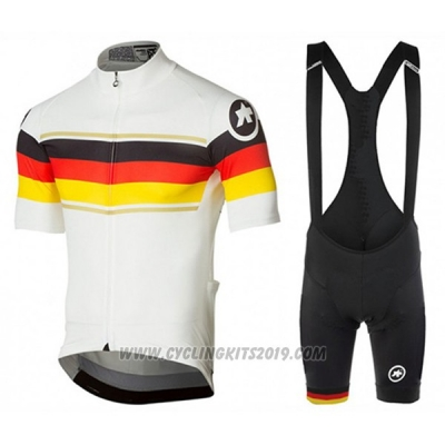 2017 Cycling Jersey Assos Campione Germany Short Sleeve and Bib Short
