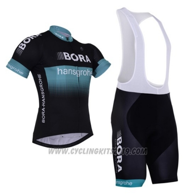 2017 Cycling Jersey Bora Black Short Sleeve and Bib Short