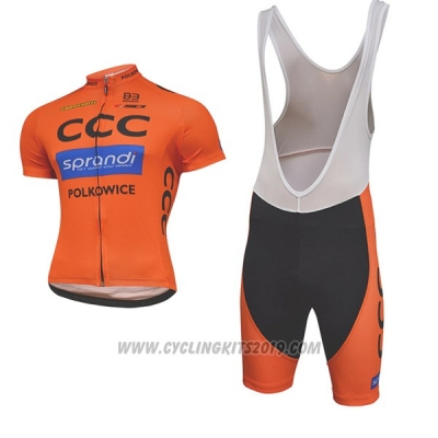 2017 Cycling Jersey CCC Black and Orange Short Sleeve and Bib Short a39c8c763