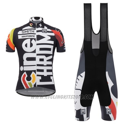 2017 Cycling Jersey Cinelli Chrome Black Short Sleeve and Bib Short