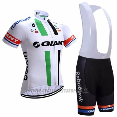 2017 Cycling Jersey Giant White Short Sleeve and Bib Short