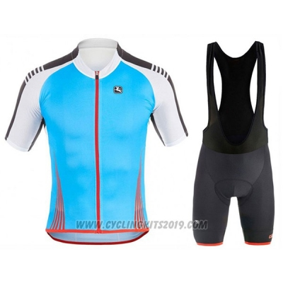 2017 Cycling Jersey Giordana Sahara White and Sky Blue Short Sleeve and Bib Short