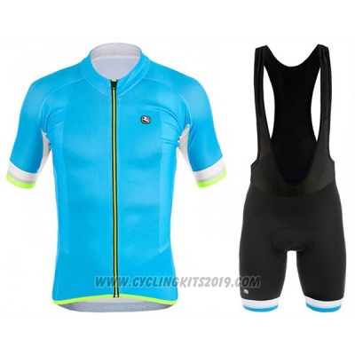 2017 Cycling Jersey Giordana Silver Line Sky Blue Short Sleeve and Bib Short