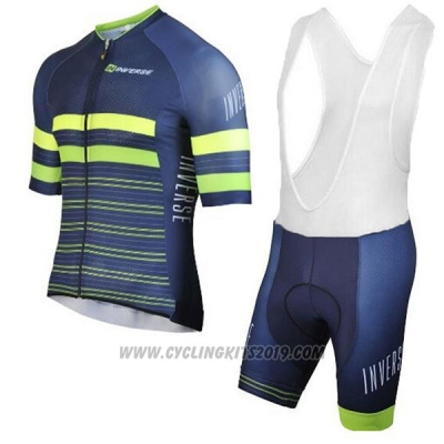 2017 Cycling Jersey Inverse Blue Short Sleeve and Bib Short