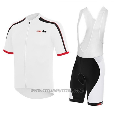 2017 Cycling Jersey RH+ White Short Sleeve and Bib Short
