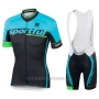2017 Cycling Jersey Sportful Sc Light Blue and Black Short Sleeve and Bib Short