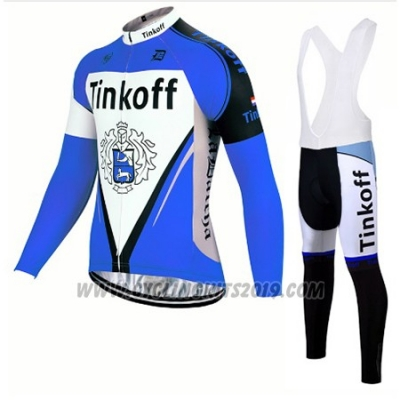 2017 Cycling Jersey Tinkoff Blue Long Sleeve and Bib Tight