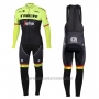2017 Cycling Jersey Trek Segafredo Black and Yellow Long Sleeve and Bib Tight