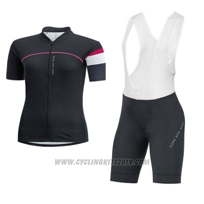 2017 Cycling Jersey Women Gore Bike Wear Black Short Sleeve and Bib Short