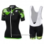 2017 Cycling Jersey Women Sportful Primavera Black Short Sleeve and Bib Short