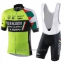 2018 Cycling Jersey Euskadi Murias Green Black Short Sleeve and Bib Short