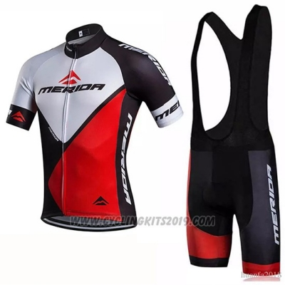 2018 Cycling Jersey Merida Red White Short Sleeve and Bib Short