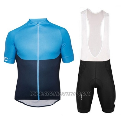 2018 Cycling Jersey POC Essential XC Blue and Black Short Sleeve and Bib Short