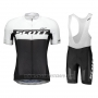 2018 Cycling Jersey Scott Rc White Short Sleeve and Salopette