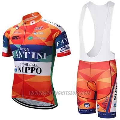 0d0e99a0e 2018 Cycling Jersey Vini Fantini Orange and Blue Short Sleeve and Bib Short