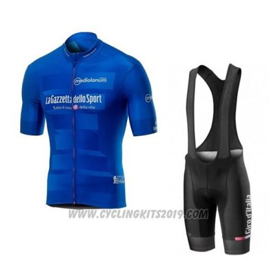 2019 Cycling Jersey Giro D'italy Blue Short Sleeve and Bib Short
