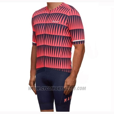 2019 Cycling Jersey Maap Red Black Short Sleeve and Bib Short