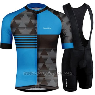 2019 Cycling Jersey Runchita Blue Black Short Sleeve and Bib Short