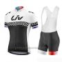 2019 Cycling Jersey Women Liv Black White Short Sleeve and Bib Short