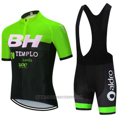 2020 Cycling Jersey BH Templo Green White Black Short Sleeve and Bib Short