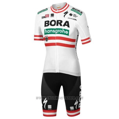 2020 Cycling Jersey Bora Champion Austria Short Sleeve and Bib Short