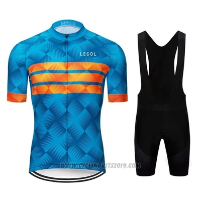 2020 Cycling Jersey Le Col Blue Orange Short Sleeve and Bib Short