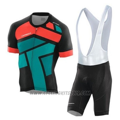 2020 Cycling Jersey Orbea Black Orange Green Short Sleeve and Bib Short