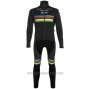 2020 Cycling Jersey UCI World Champion Trek Segafredo Black Long Sleeve and Bib Tight